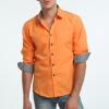 Модные мужские рубашки с длинными рукавами Топы Твердые цвета рубашки с высоким качеством рубашки для мужчин Slim Men Shirt мужские рубашки с длинными рукавами