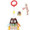 Доктор Doll (Dr.B) ходунки тележки одного стержень с легкой музыкой детские игрушки, толкающие вагонетки (мультфильм Сова пункт) детские ходунки