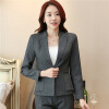 Fashion Casual Work Office Blazer One Button Jacket for Women and Juniors Long Sleeve Solid Slim Suit Jackets Coat Plus Size Top women s fashion seventh volume sleeve jacket blazer candy color suit coat blue l