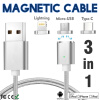 Keymao Magnetic Phone Kabel Data Type-C Micro USB Lighting Charger  Cable 3-in-1  for iPhone  iPad Samsung ipad 4 in 1 photo lens