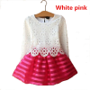 Горячая распродажа! Комплект одежды для девочек с длинными рукавами Весенняя осень с длинным рукавом Полосатая белая розовая красн