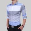 Brand 2017 Fashion Male Shirt Long-Sleeves Tops Large Striped Men'S Casual Mens Dress Shirts Slim Men Shirt 2XL