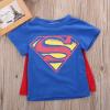 ребенок детей мальчиков с коротким рукавом супермен футболку тис костюм одежду максимум
