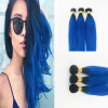 """Фото Best Selling Brazilian Virgin Hair 3Pcs/Lot Ombre Color Human Weaves 10-30"""" Straight Hair In Human Hair Extensions"""