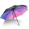 iRain Umbnella УФ солнечный зонт складной зонт три складной зонт градиент звезды Зонт зонтик кристалл зонт светоотражающий reflective