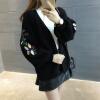 sustory Женщины 2017 осень зима средства женский джемпер свитер пиджак женский корейских студентов свободный свитер дикий черный Размер SRSU038
