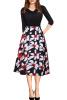 2017 Women Autumn Flora Printed Dress With Pocket New Arrival flora express бархатный поцелуй