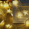 Цзинтан планида фонарь струнных светильников декоративных штор спальни гостиная лампа романтических свет звезды цвета шесть больших звезды 6 маленьких звезды