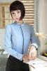 Autumn Winter Elegant Slim Fashion Blue Long Sleeve Blouses Shirts Ladies Office Work Wear Blouse Blusas Female Tops Clothes