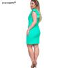 COCOEPPS 2017 Plus размер женщин летние платья Сексуальная V-образным вырезом оболочка Твердые мини платье Ruffles рукавом платье свободное платье с v образным вырезом marni платья и сарафаны мини короткие