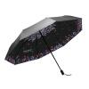 Nailuo (чернь) УФ солнцезащитный зонт Зонт черный винил двойной зонтик складной зонт три N834002