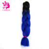 24Inches Synthetic Kanekalon Ombre Jumbo Braiding Hair Two Tone Colored Crochet Braids Hair Extension
