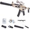 Горох, как электрический пистолет пули очереди детских игрушек, вода может быть большого кристалл эластичного пистолет игрушки на открытом воздухе игрушка DX9903 золото