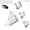 Keymao Magnetic Phone Kabel Data Lighting Type-C Micro USB Charger Cable 3-in-1 for Iphone Android 3 in 1 micro usb cable charging data sync retractable charger type c adapter for iphone ios htc xiaomi huawei android