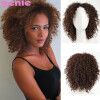 Pixie Cut Afro Kinky Curly Short Synthetic Wigs With Bangs для черных женщин Естественно, коричневый цвет Афро-американских волос short kinky curly wig african american cheap wigs synthetic fiber short afro kinky curly hair wigs for black women free shipping
