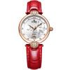 EBOHR Женские часы Красный ремешок Водонепроницаемые механические часы женские часы tokyobay t525bk