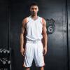 Позитивного леопард заклинания Джерси цвета баскетбола одежда костюм спортивный костюм игра форма специально отпечатанная версия пустого размера шрифта