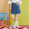 Semir (Semir) юбка женской осенью 2017 года новые женские джинсовые юбки были тонким слово юбки прилив колледж Ветер темно-синие джинсы юбка 17316200009 L