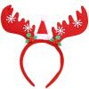 Эва Лав украшения рождества головной убор взрослых детей пантов оголовье головной убор праздник макияж реквизит красное платье