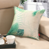 Антарктическая (NanJiren) подушка текстильный лен стиль диванные подушки офис подушки автомобиля ядро, содержащие листья 45 * 45см