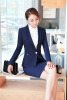 Plus Size 4XL Autumn Winter Formal Jackets Coat For Ladies Office Work Wear Outwear Blazers Female Tops Clothes Dark Blue
