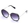 LOHO Солнцезащитные очки Женщины Большая рамка Круглый Лицо Мода Ретро Женщины Мода Поляризованные Солнцезащитные очки Женский LHK006 Фортепиано Черный