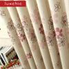 Современные занавески Цветочные занавески для гостиной Детская шторы для обработки окон из спальни Фиолетовый / Оранжевый Готовый для спальни