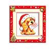 шитье DIY DMC вышивка крестом наборы для вышивания комплекты рождество собака прямых производителей шитье diy dmc вышивка крестом наборы для вышивания комплектылюбить кролик прямых производителей