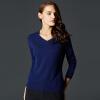 цены на Руи Бика (Marc Rebecca) женские модели простой дикий свитер пуловер V-образным вырезом кашемировый свитер женский горный бордовый L в интернет-магазинах