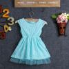 малого @ девушка летом короткие рукава голубое платье (хлопок смесей) малого девушка летом без рукавов цветок печать футболку и юбки хлопок