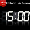 3D DIY Wall Clock Large Table Clock LED Digital Automatic Sensor Light Jumbo Wall Clock Huge Screen Display White structure sensor 3d scanner