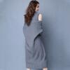 sustory Женщины +2017 Dongkuan свитер частей установлены кардиган свитер и длинные участки жилет платье черный S SRSU047