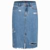 Semir (Semir) джинсовые юбки Г-жа осень моды диких юбка хлопка отверстие джинсовой светло-голубой L 19316200107 vivaheart талии отверстие хит цвет джинсовой юбки женская юбка юбка дикий vwqz174247 синий a m