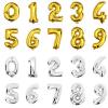 Cntomlv 40 дюймов фольгу шар крупных гелий номер шарики свадьбу украшения день рождения сувениры за золотые серебряные розовый сувениры
