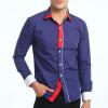Brand 2017 Fashion Male Shirt Long-Sleeves Tops Simple Hit Color Casual Shirt Business Mens Dress Shirts Slim Men Shirt XXXL