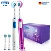 Braun Oral-B 3D  Pro 600 Plus электрическая зубная щётка(синий и фиолетовый) зубная щетка braun oral b pro 3000 белый синий