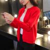 sustory 2017 Dongkuan женщин кардиган свитер женский корейской версии короткий отрезок рыхлый с длинными рукавами свитер куртка рубашка SRSU107 свет цвет кофе L 2015 новый осень кардиган свитера женщин корейской версии тысячи птиц свободные свитер свитер пальто женщин