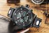 Мода люкс Топ бренда мужчин Водонепроницаемые военные спортивные часы Мужские кварцевые аналоговые кожаные наручные часы часы
