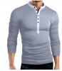 Male 2017 Brand Long Sleeve Solid Color Fashion T Shirt V-Neck Slim Men T-Shirt Tops Fashion Mens Tee Shirt T Shirts XXXL