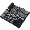 Yu Zhaolin (YUZHAOLIN) шарфы мужской зимний теплый осенний и зимний бизнес случайный корейской версии шарф мужчин короткие шарфы черно-белые деревья