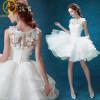 Короткие свадебные платья Белое платье Lace Bridal Dress Sexy Princess Brides Dress Engagement Plus Размер Vestido De Noiva Casamento свадебное платье none vestido noiva vestidos noivas casamento hd062