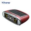YChampTPMS Автомобильная система контроля давления в шинах Солнечная энергия ЖК-дисплей 4 Внутренний датчик Автосигнализация Автом древняя ткань bugoo встроенный беспроводной контроля давления в шинах m1 длительного ожидания