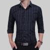 Brand 2017 Fashion Male Shirt Long-Sleeves Tops Classic Hit Color Small Plaid Mens Dress Shirts Slim Men Shirt 3XL men s cowboy jeans fashion blue jeans pant men plus sizes regular slim fit denim jean pants male high quality brand jeans