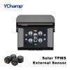 YChamp TPMS 2,4-дюймовый TFT-дисплей внешнего беспроводного автомобиля для контроля давления в шинах для солнечной энергии древняя ткань bugoo встроенный беспроводной контроля давления в шинах m1 длительного ожидания