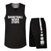 Положительный леопард баскетбол костюм мужской костюм детей джерси жилет команда пустой лист настраивать матч тренировочный костюм