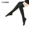 Женщины Knee Высокие носки Красочные хлопчатобумажные бедра Высокие носки Хараджуку Зимние длинные чулки Носки