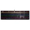 Rapoo V500PRO свет смешивая механической клавиатуры игровой клавиатур колодки клавиатуры клавиатуры компьютера подсветка клавиатуру ноутбука курицы ось черного чай rapoo