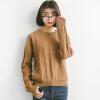 Город плюс CITYPLUS 2017 зима новый литературные дамы диких вокруг шеи с длинными рукавами пуловер свитер узор свитер пеньки CWYC179552 кирпич красный Размер