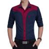 Brand 2017 Fashion Male Shirt Long-Sleeves Tops Fashion Youth Hit Color Mens Dress Shirts Slim Men Shirt 3XL