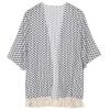 новая женская блуза геометрия включен летом шифон пальто шаль кимоно кардиган. блуза кардиган